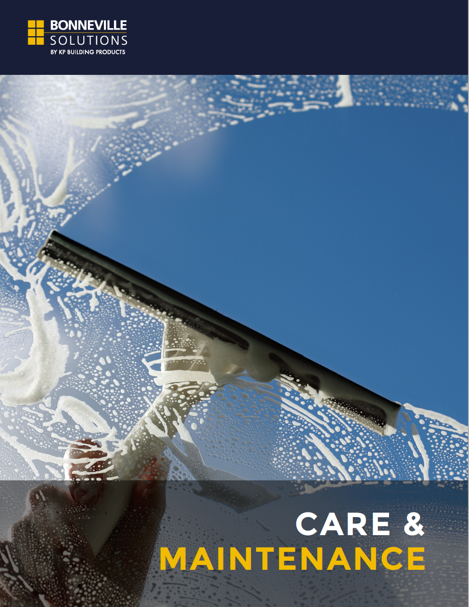 Care and maintenance brochure