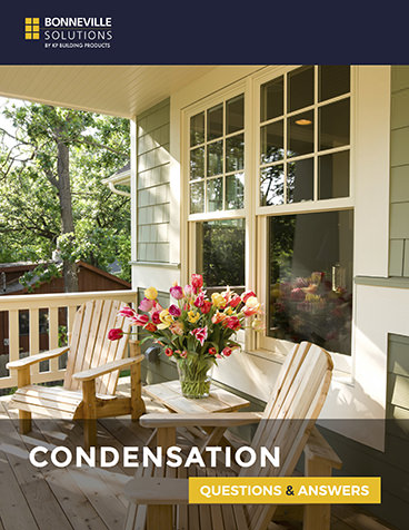 Condensation guide with a beige bright porch and window