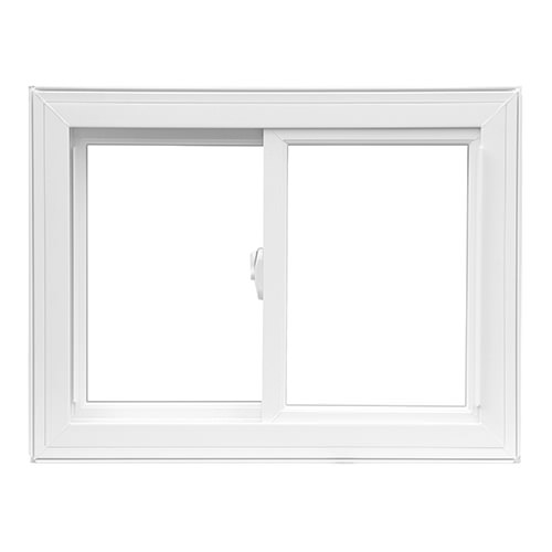 white slider window