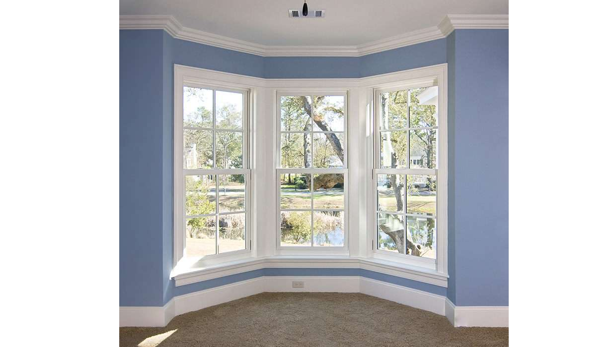 Vinyl bay and bow windows bonneville solutions for Discount bay windows