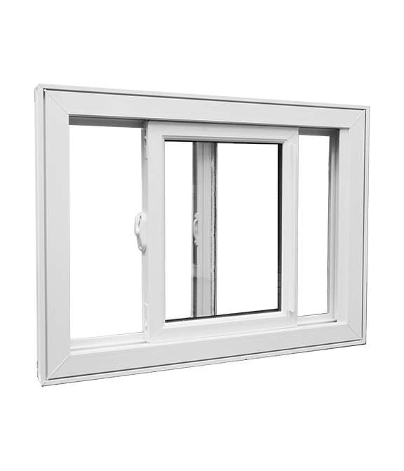 White open Single Tilt Slider Windows Model 2500 with a white background