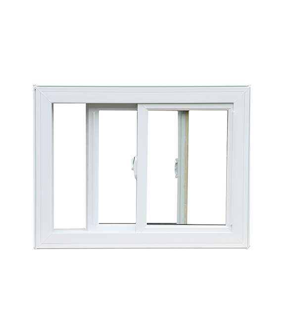 white vinyl slider window
