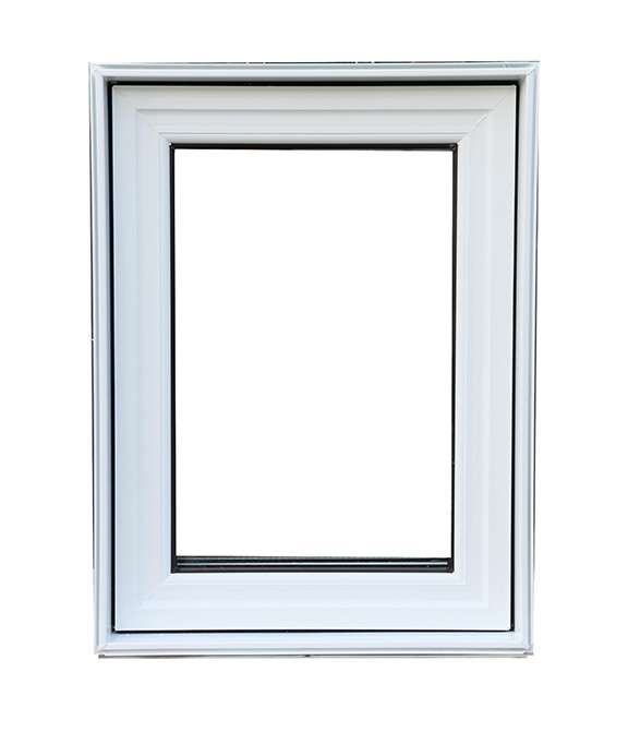 white vinyl casement window